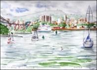B Line Michaud 4- Vue de la marina de Longueuil