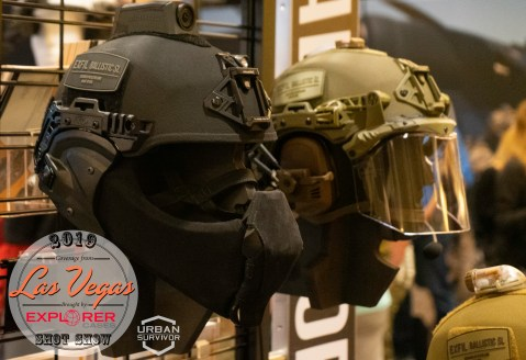 Team Wendy SHOT Show 2019 Exfil Mandible Carbon Ballistic Visor Multicam