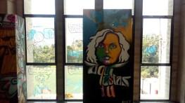 Grafiti del taller de arte urbano en el Parque Biblioteca Doce de Octubre