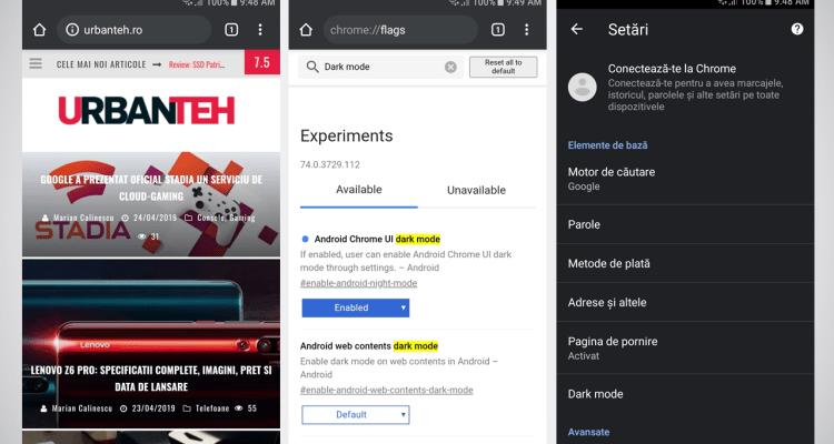 Cum poti activa modul intunecat pe Google Chrome de pe Android