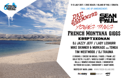 Fresh Island Festival 2017: Full Line Up Announced (Zrce Beach, Croatia/11th-13th July 2017)