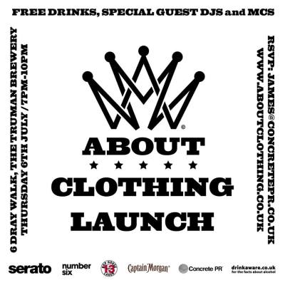 ABOUT Clothing Launch x Serato @ Number Six, London, UK (06th July)