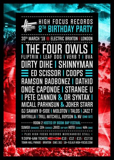 High Focus Records 8th Birthday Party @ Electric Brixton, London, UK (30th March)