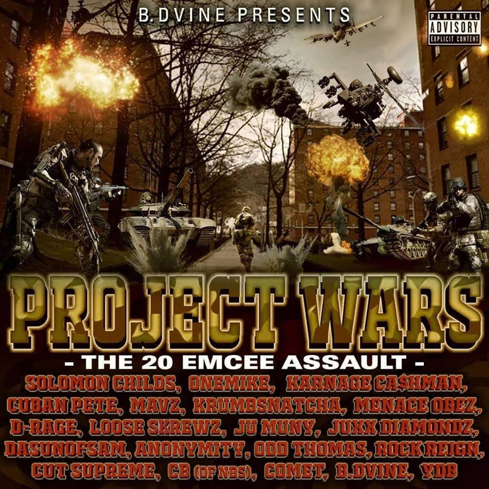 B. Dvine Presents: Project Wars – The 20 Emcee Assault – (Audio)