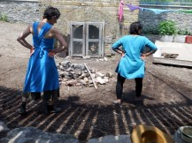 Dancing on Kaliya's ten heads, Brickworks. Julia Aplin and Sharada Eswar