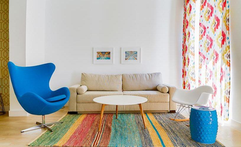 Salon en apartamento un dormitorio 1 urbanvida la latina