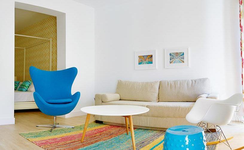 Salon en apartamento un dormitorio 1 urbanvida la latina2