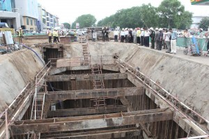 Inspection of flyover bridge Techno