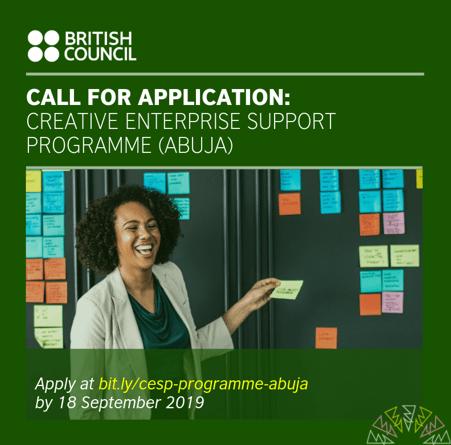 British Council Creative Enterprise Support Programme, Abuja, Nigeria