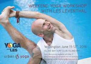Les Leventhal Urban Yoga Weekend Workshop Wellington NZ