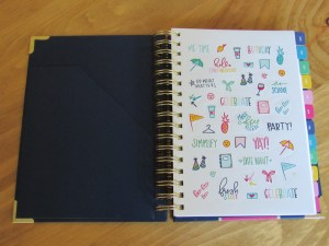 Emily Ley Simplified Planner, Front Pocket, Stickers