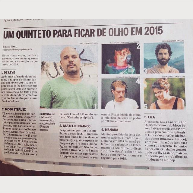 oglobo_transcultura_cinconomes2015_deleve_strausz_lila_manara_castellobranco