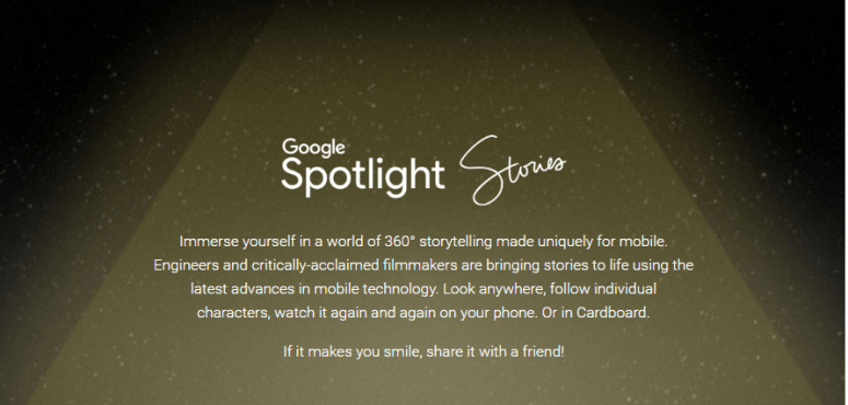 Google Spotlight Stories 360° URBe