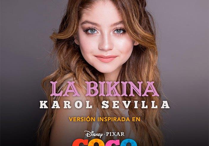 """Karol Sevilla interpretará una nueva versión de """"La Bikina"""", inspirada en COCO, de Disney•Pixar"""