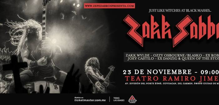 Zakk Sabbath en CDMX 2017