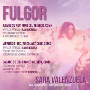 Sara Valenzuela lleva su Fulgor a la CDMX