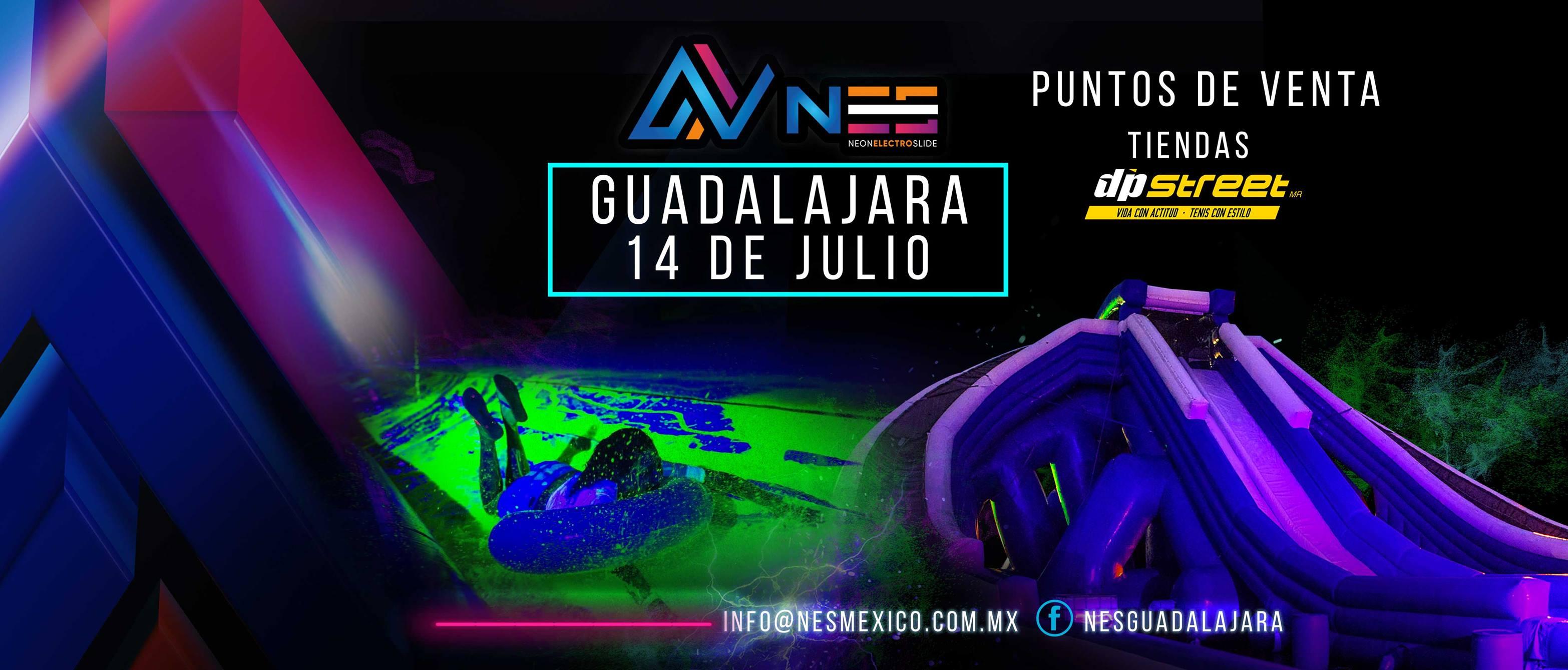 Llega a Guadalajara NES. La mejor experiencia con pintura glow, luz ultravioleta y música electrónica.