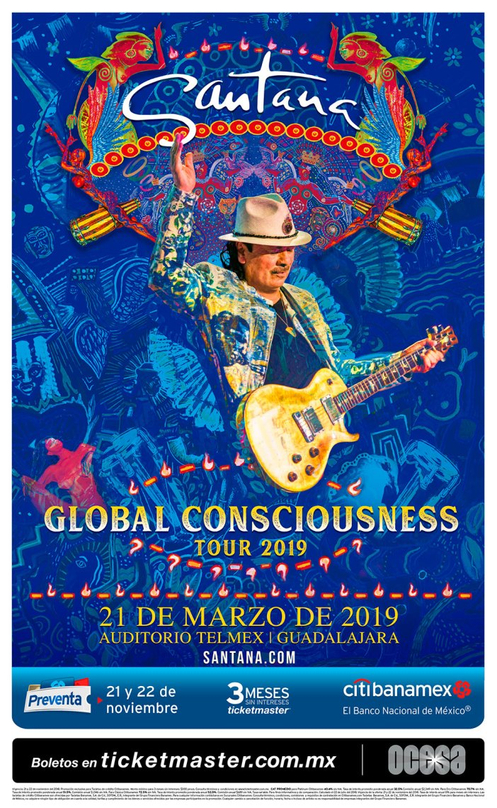 Carlos Santana en Guadalajara 2019