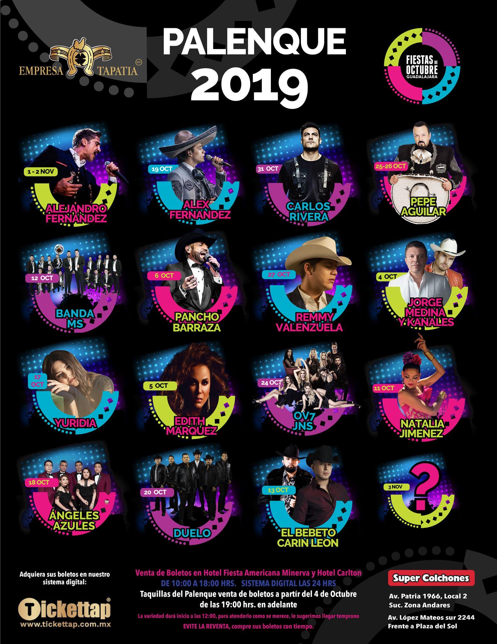 Palenque Fiestas de Octubre 2019
