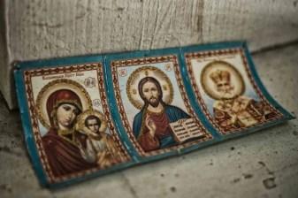 In der orthodoxen Kirche in Krasny