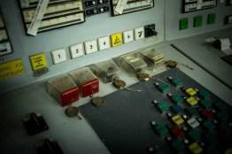 Im Kontrollraum von Block 2 des Kernkraftwerkes in Tschernobyl
