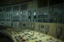 Der Kontrollraum im Block 2 des kernkraftwerkes Tschernobyl