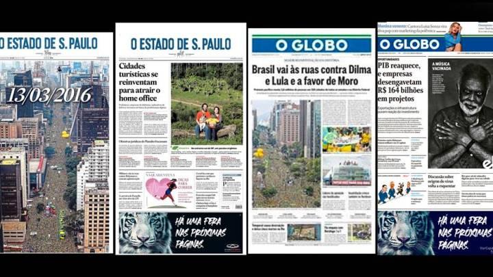 A diferença da abordagem da mídia nos protestos contra Bolsonaro em 2021 e contra Dilma em 2016