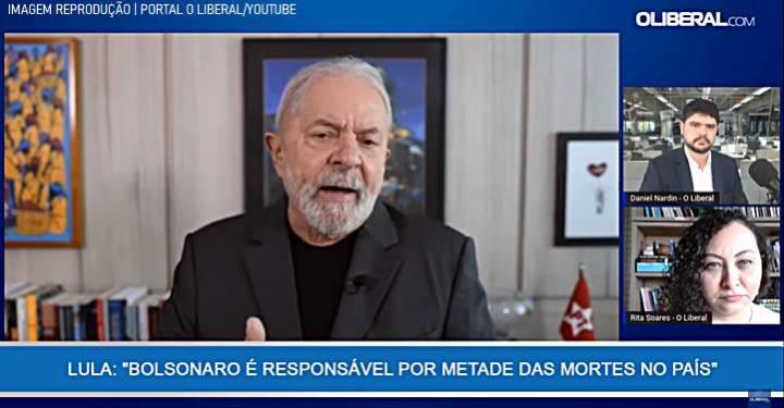 """Lula: """"A polarização que está colocada é a da democracia de Lula contra o fascismo de Bolsonaro"""""""