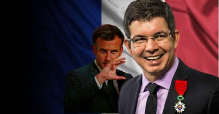 Randolfe receberá das mãos de Macron a comenda Légion d'honneur – a mais alta distinção da França