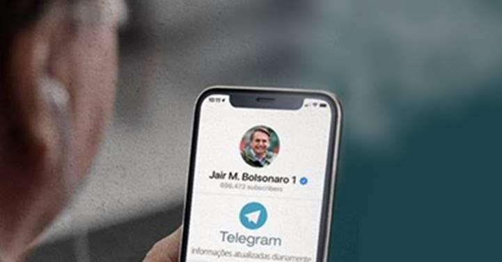 Com dificuldade para postar em seus perfis aquilo que gostaria, Bolsonaro conduz 'rebanho' ao Telegram