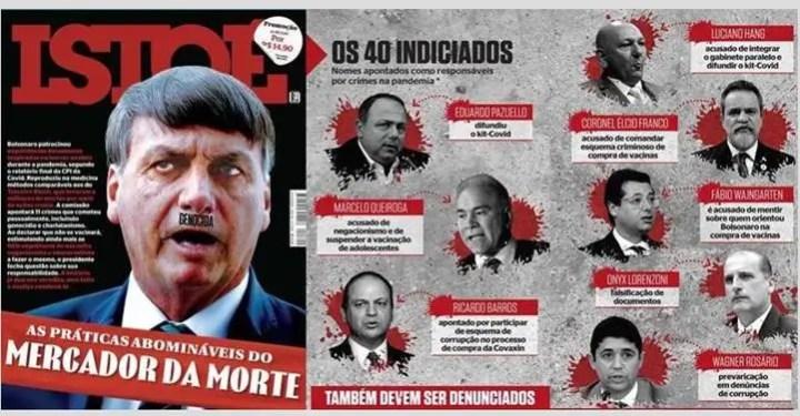 Bolsonaro e os 40 indiciados: IstoÉ vaza nomes da CPI com ares de Ali Babá e os ladrões do conto das Mil e Uma Noites