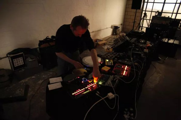 Filter Feeder performing in The White Building Gallery