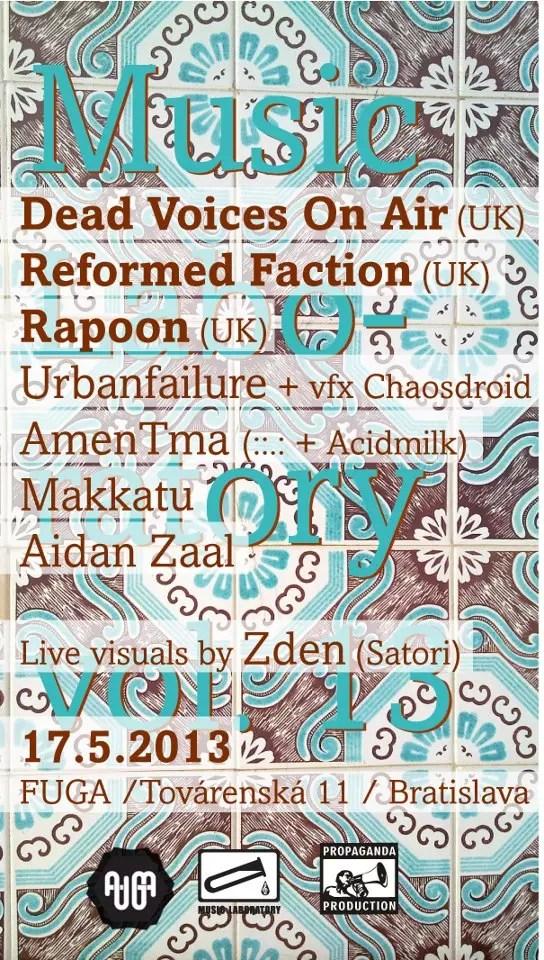 17 May :: Music Laboratory v.13