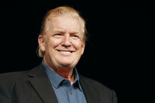 Donald Trump's slicked back hairstyle