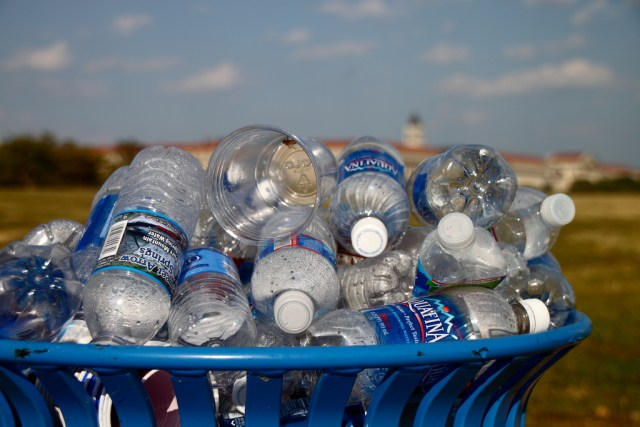 Recyling Plastic Bottles for School fees