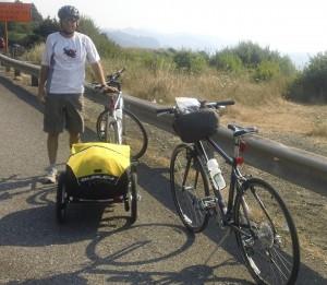 Matt with bikes