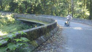 Matt biking uphill