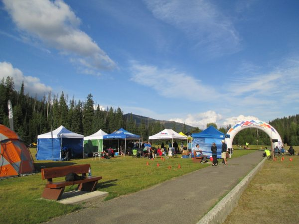 The finish area was nicely decked out with plenty of good food.