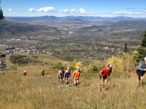 Beautiful weather throughout. Hare race started at noon with a 3k+ foot climb in the first 4.5 miles.