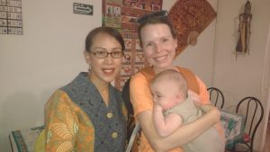 Julie with the owner and chef, Eni, a super friendly woman and wonderful chef.