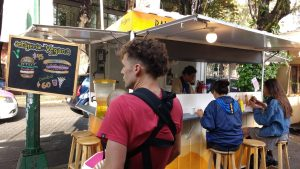 A fairly unassuming food stand that puts out some delicious food