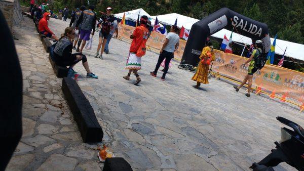A view of the Tarahumara walking away after winning the 55k race