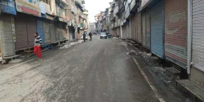 گاؤ کدل سانحہ کی برسی پر سری نگر کے سیول لائنز علاقوں میں ہڑتال