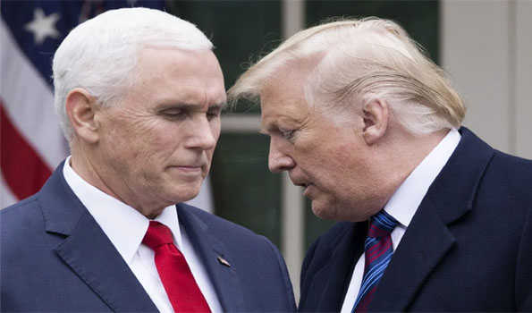 ٹرمپ اور پینس نے وہائٹ ہاؤس میں میٹنگ کی