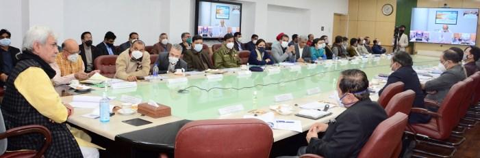 لیفٹیننٹ گورنر کا جموں و کشمیر میں سمارٹ سٹی منصوبوں کی عمل آوری میں سرعت لانے پر زور