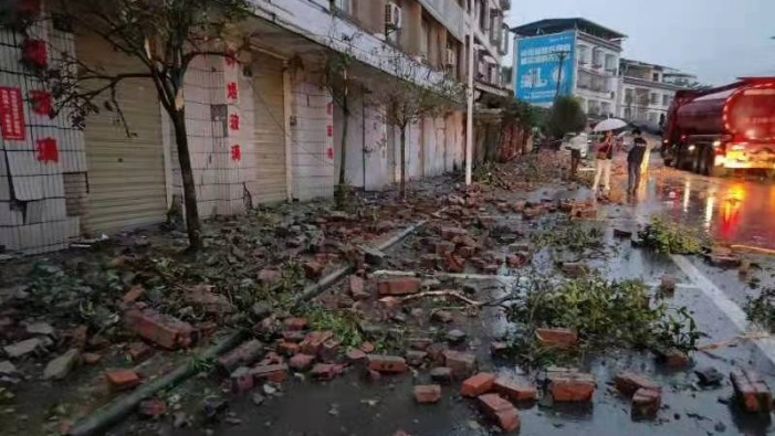 چین میں زلزلہ سے 3 افراد ہلاک ، متعدد زخمی
