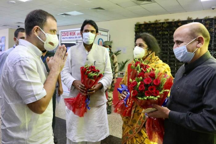 راہل گاندھی دو روزہ دورے پر جموں پہنچے