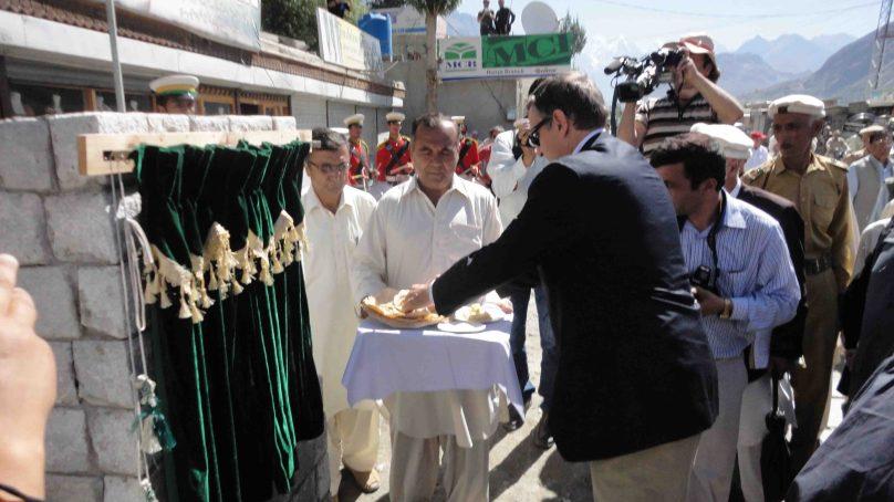 پاکستان میں تعینات جرمن سفیر سیرل نن کا دورہ ہنزہ علی آباد, سنیٹیشن اینڈ واٹر پروجیکٹ کا افتتاح