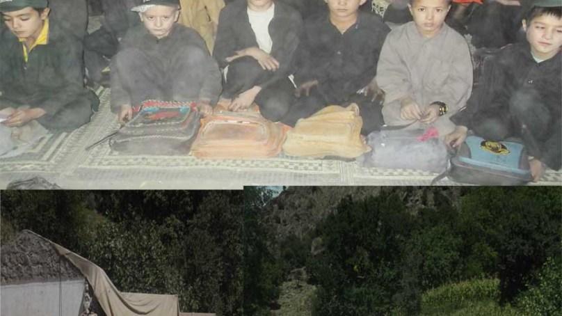 وادی کیلاش کے گاوں رمبورمیں طلبہ وطالبات کھلے آسمان تلے تعلیم حاصل کرنے پر مجبور ہیں