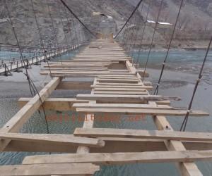 اورغوچ زیر تعمیر پل میں ناقص میٹریل کے استعما ل کا انکشاف